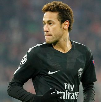 Neymar, durante partido del PSG contra Bayern Munich