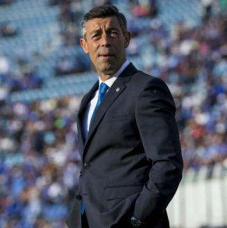 Pedro Caixinha, durante su debut como técnico de Cruz Azul