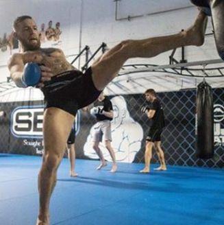 McGregor, durante entrenamiento de mma