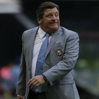 Miguel Herrera, durante el juego entre América y Tuzos