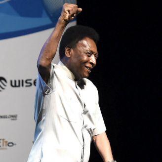 Pelé, durante la ceremonia inaugural del campeonato en Río