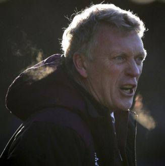 David Moyes en un partido del West Ham
