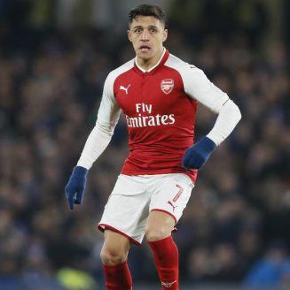 Sánchez, durante un partido del Arsenal