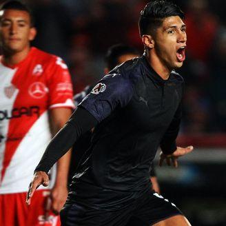 Pulido celebra su gol frente al Necaxa