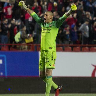 Lajud celebra un gol de Xolos en el Clausura 2018