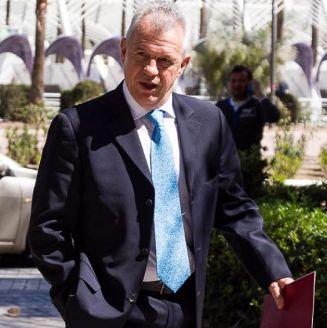 Aguirre, a su llegada al juzgado de Valencia
