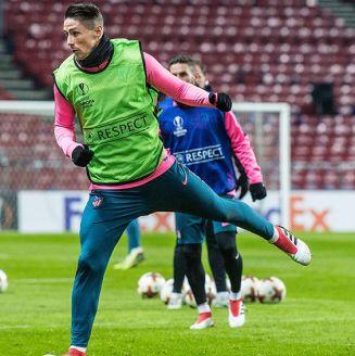 Fernando Torres, durante entrenamiento del Atlético de Madrid