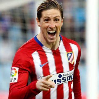 Fernando Torres festeja gol con el Atlético de Madrid