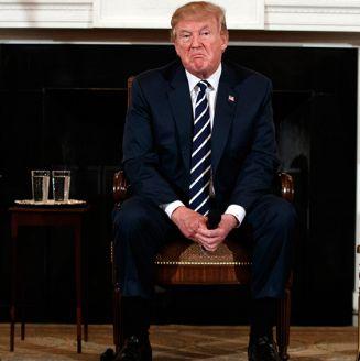 Donald Trump, durante una reunión en la Casa Blanca