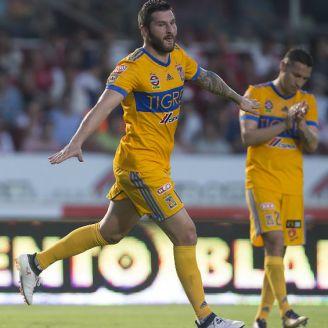 Gignac festeja gol contra Veracruz en la J10