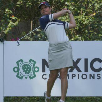 Lorena Ochoa, durante un torneo de golf