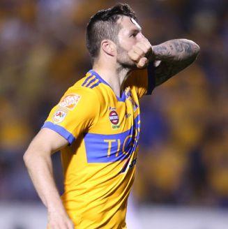 Gignac celebra su gol frente a Xolos