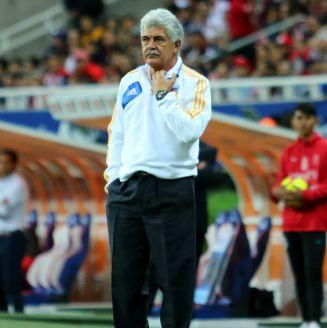 Ricardo Ferretti, durante un juego contra Chivas