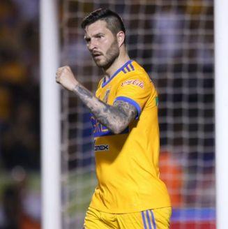 Gignac festeja un gol contra Xolos de Tijuana