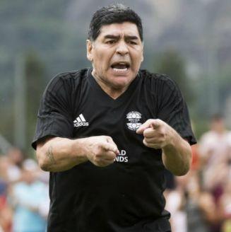 Diego Armando Maradona, durante un entrenamiento