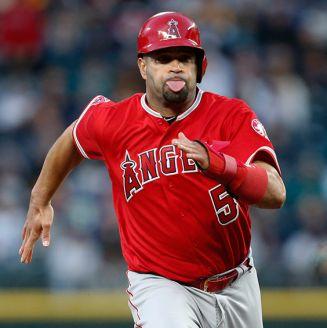 Albert Pujols, en un juego con los Angels de Anaheim