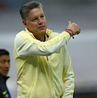 Peláez, durante un partido con el América
