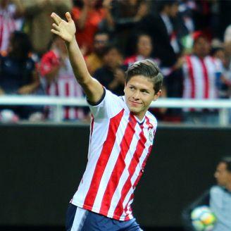 Jesús Godínez, durante un festejo de gol en Concachampions
