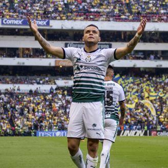 Rodríguez festeja su gol contra América en la Semifinal de Vuelta