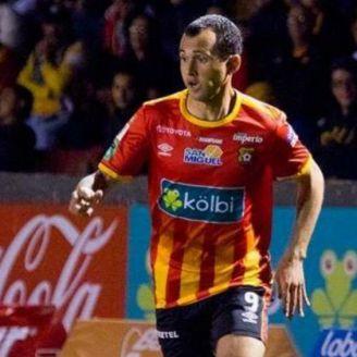 Omar Arellano durante un partido del Herediano
