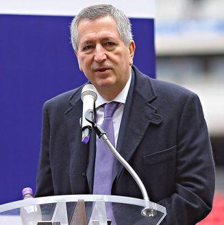 Jorge Vergara, durante un evento en el Estadio Akron