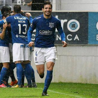 Briseño, durante un partido del Feirense
