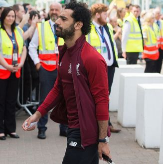 Mohamed Salah, en su llegada a Kiev