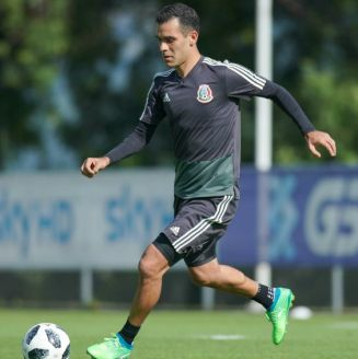 Rafa Márquez durante un entrenamiento con la Selección Mexicana