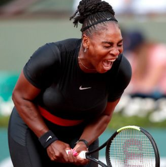 Serena Williams, durante un partido contra Ashley Barty