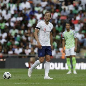 Harry Kane en un partido de Inglaterra