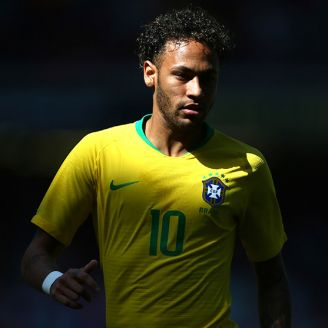 Neymar, durante un partido amistoso con Brasil