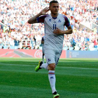 Finnbogason celebra su anotación frente a Argentina