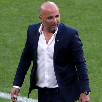 Jorge Sampaoli, en el juego de Argentina contra Islandia