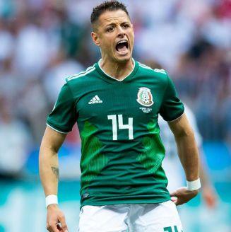 Chicharito se lamenta en juego Alemania vs México