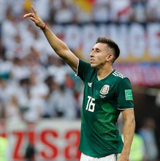 Héctor Herrera, durante el juego del Tri contra Alemania