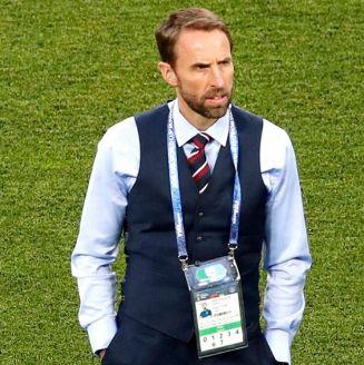 Gaerth Southgate, en el juego de Inglaterra vs Túnez