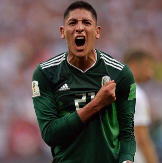 Edson Álvarez celebra la victoria del Tri frente a Alemania