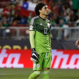 Ochoa, durante derrota 7-0 contra Chile