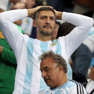 Los aficionados de la Albiceleste no podían creer la derrota contra Croacia
