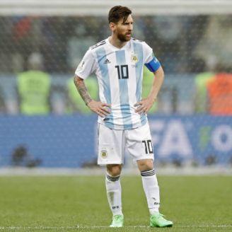 Messi se lamenta tras la derrota de Argentina frente a Croacia