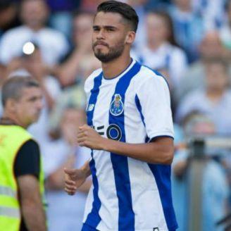 Diego Reyes, en un juego del Porto