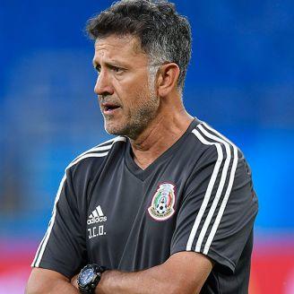 Osorio, durante un entrenamiento del Tri en Rusia