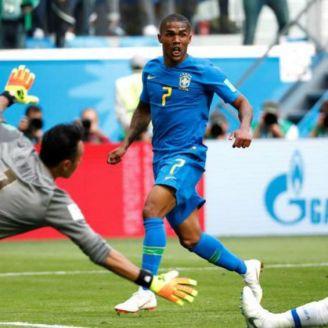 Costa durante el partido contra Costa Rica