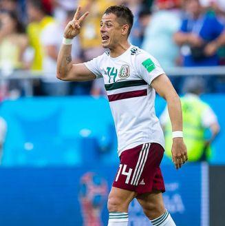 Chicharito celebra gol contra Corea