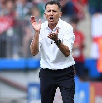 Juan Carlos Osorio, durante un juego del Tri en Rusia 2018