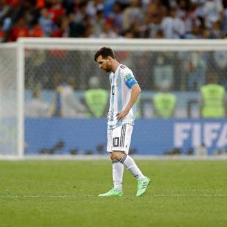 Lionel Messi, durante el partido contra Croacia