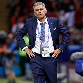 Carlos Queiroz, durante el juego de Irán contra España