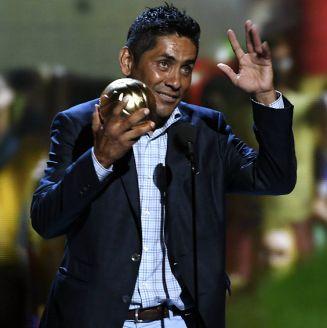 Jorge Campos, durante la entrega del Balón de Oro 2016