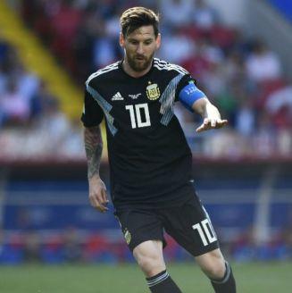 Messi, en el juego entre Argentina e Islandia en Rusia 2018