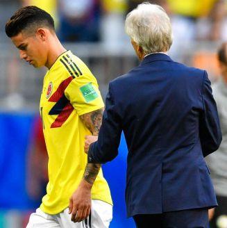 James Rodríguez, tras salir lesionado del encuentro